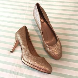 Style & Co Gold Glitter Party Heels Size 8